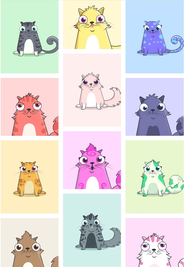 cryptokitties cryptochats bitcoin ripple cryptomonnaie