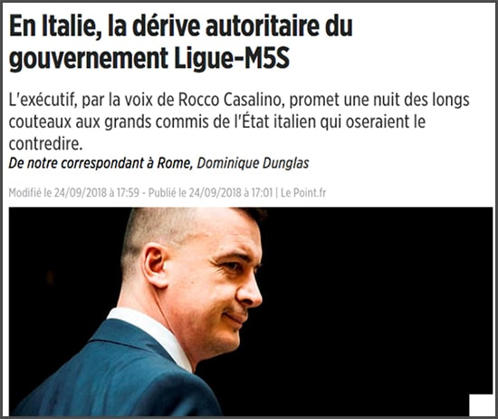 Ligue M5S Italie bulle universelle