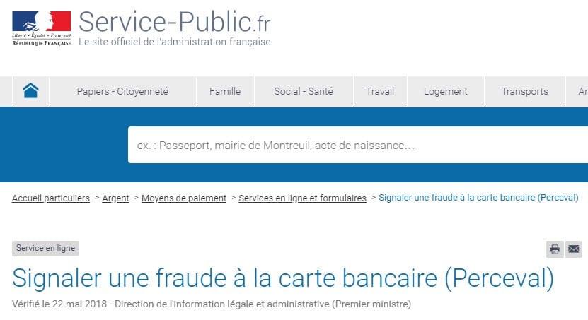 Perceval service public banques