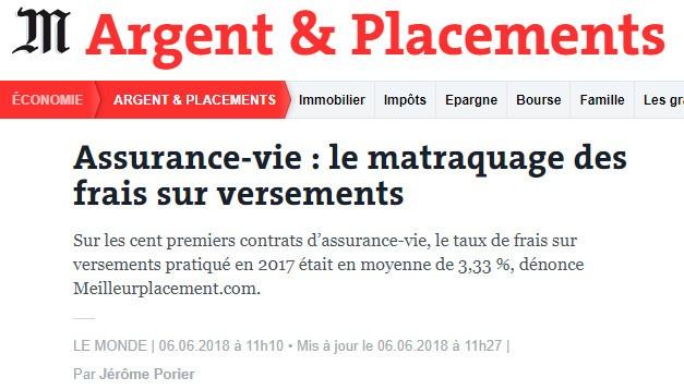 Le Monde - Assurance-vie