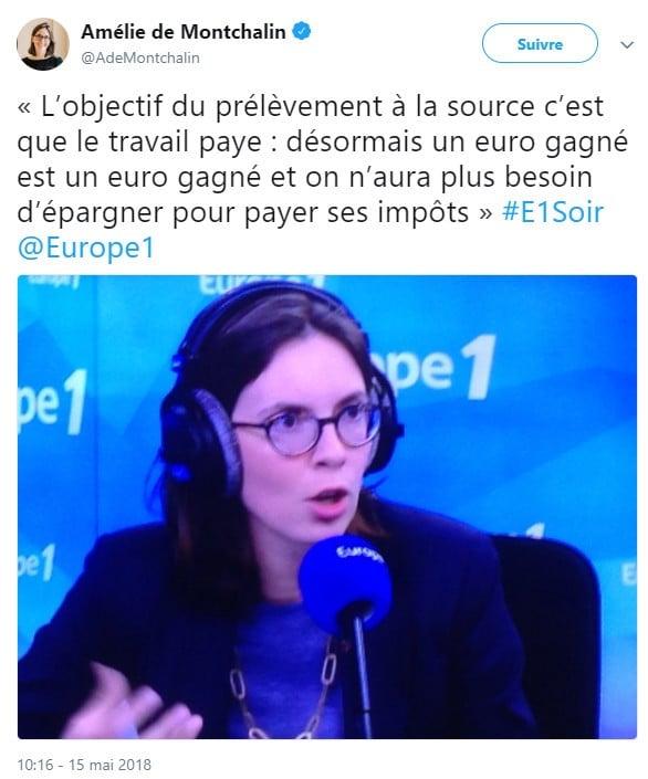 Tweet - Amélie de Montchalin