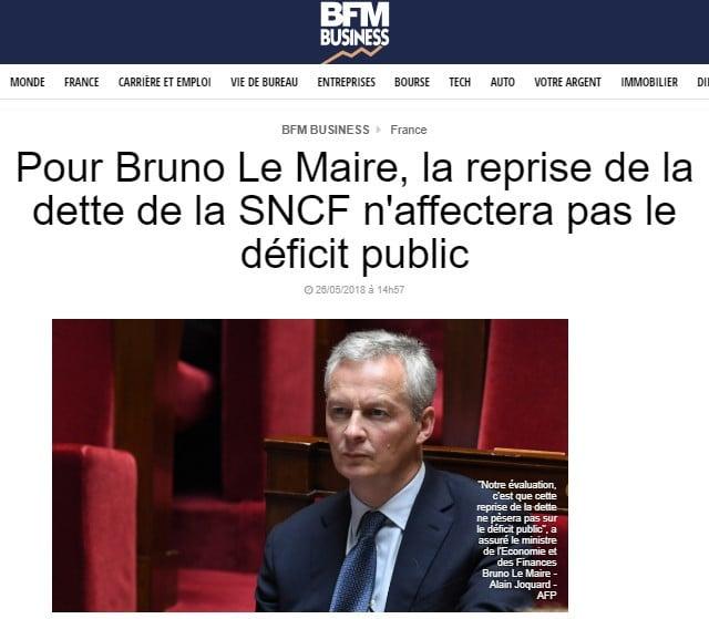 Bruno le Maire dette SNCF