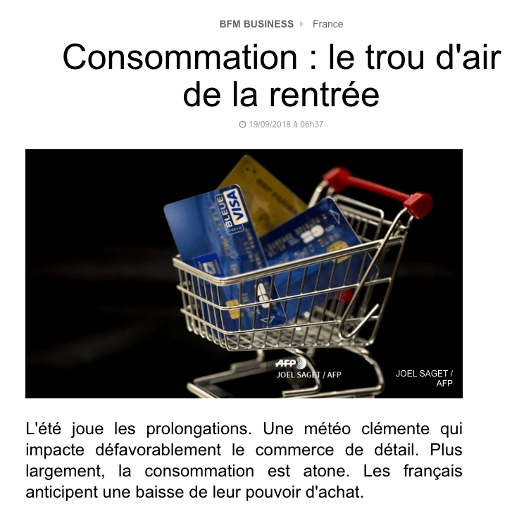 consommation France BFM