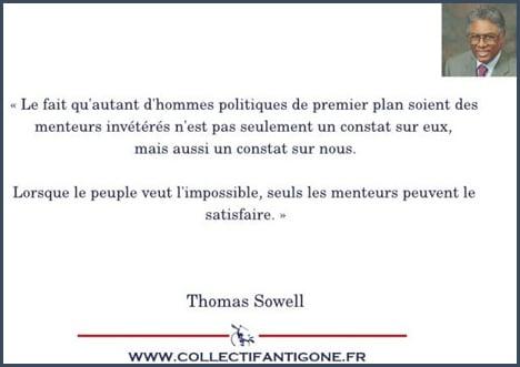 citation - Thomas Sowell - politique - mensonge