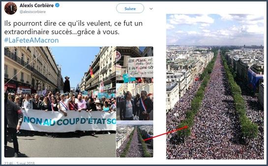 Alexis Corbière - Manifestation - Premier Mai - #lafeteamacron