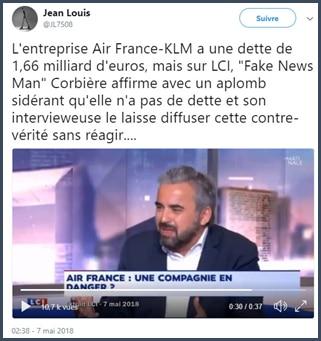 Alexis Corbière - Fake news - Air France KLM