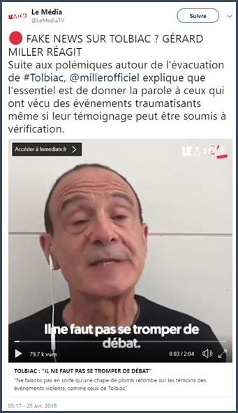 Gérard Miller - évacuation de Tolbiac