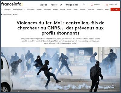 manifestation du 1er mai - France Info - violences -