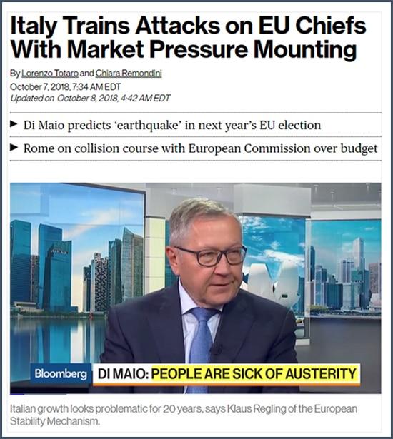 Dette - Italie - Di Maio - Union européenne marché