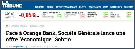 Société Générale - nouvelle offre - Sobrio