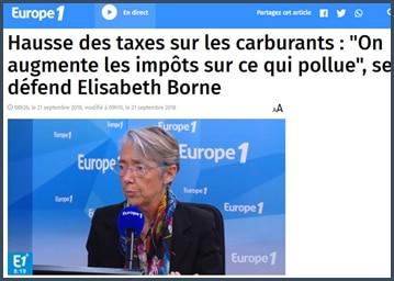 Elisabeth Borne - - Contrepoints - hausse des taxes - carburants