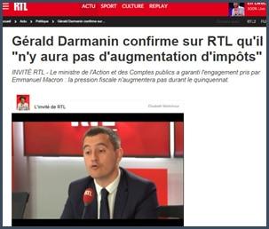 Gérald Darmanin - RTL - impôts