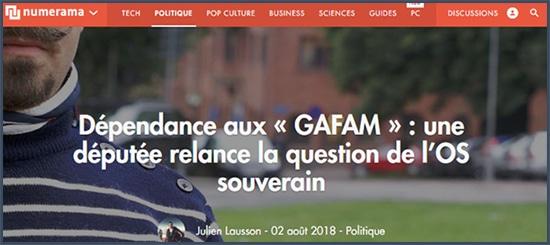 dépendance - GAFAM - OS souverain