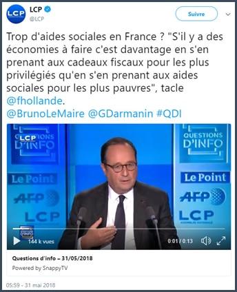 François Hollande - cadeaux fiscaux - privilégiés