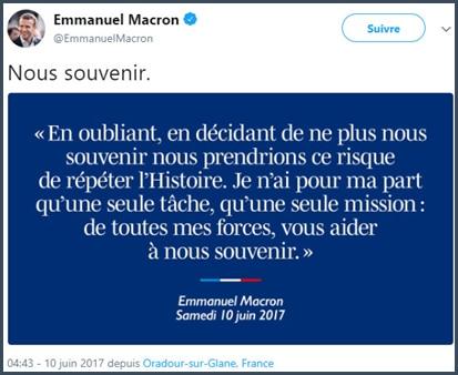 citation - Macron - Histoire - mémoire
