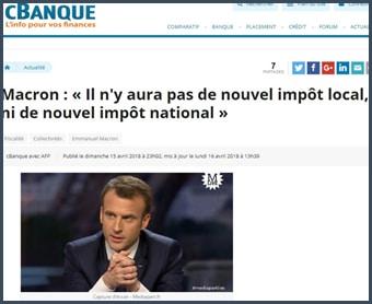 citation de Macron sur l'impôt