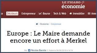 Le Figaro - Bruno Le Maire - Merkel - Fonds monétaire européen