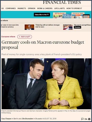 budget - UE - merkel - Macron