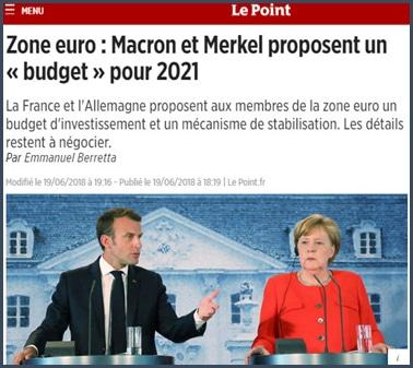 Union européenne - France - Allemagne - Macron - Merkel