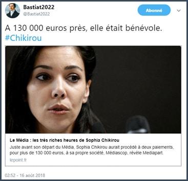 Sophia chikirou - polémique - Mélenchon - La France Insoumise