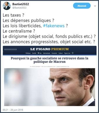 tweet Bastiat gauche Macron