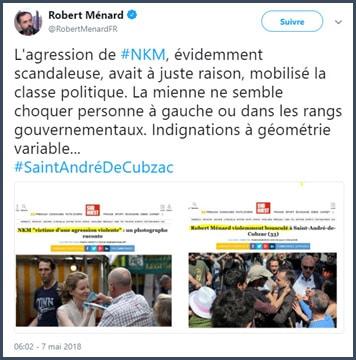 tweet Robert Ménard