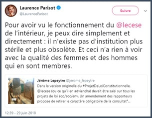 tweet Laurence Parisot