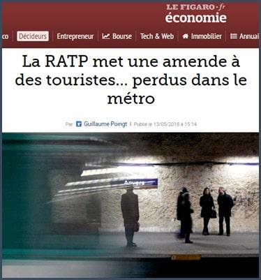 La RATP met une amende à des touristes perdus dans le métro