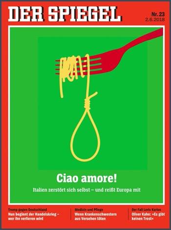 Der Spiegel - Allemagne - Italie - Union européenne