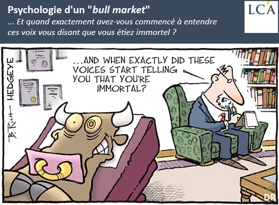 dessin humoristique - marchés - taureau