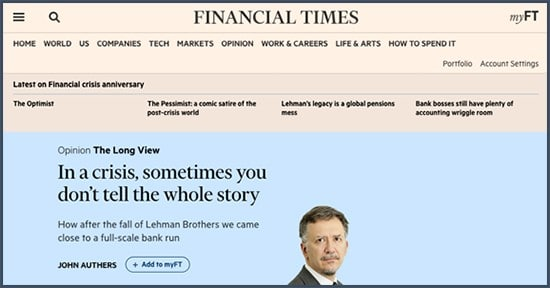 John Authers - Financial Times - crise - banques