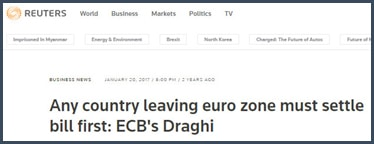 Mario Draghi - BCE - quitter - zone euro