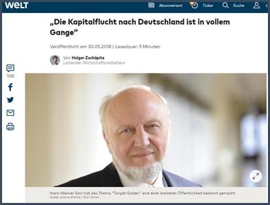 Hans-Werner Sinn - contrôle des capitaux - TARGET2 - Welt