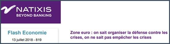 Natixis - zone euro - crise