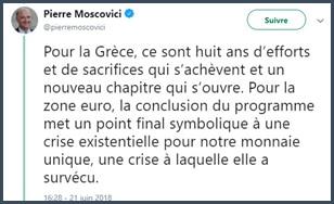 Mierre Moscovici - crise - Grèce - zone euro