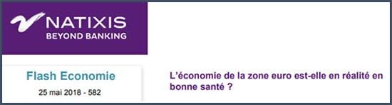 Natixis - économie - zone euro - santé