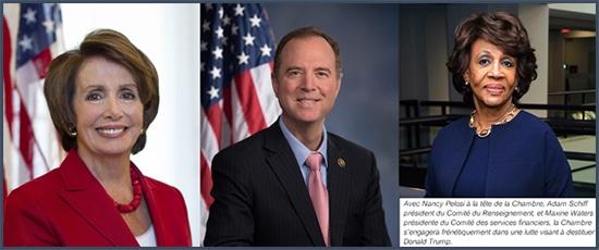 Démocrates - Etats-Unis - Nancy Pelosi - Adam Schiff - Maxine Waters