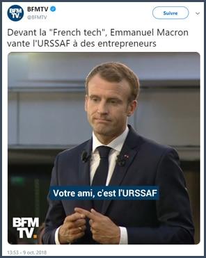 BFM TV - Macron - président -ami - URSSAF