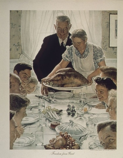 Illustration - Thanksgiving - Norman Rockwell