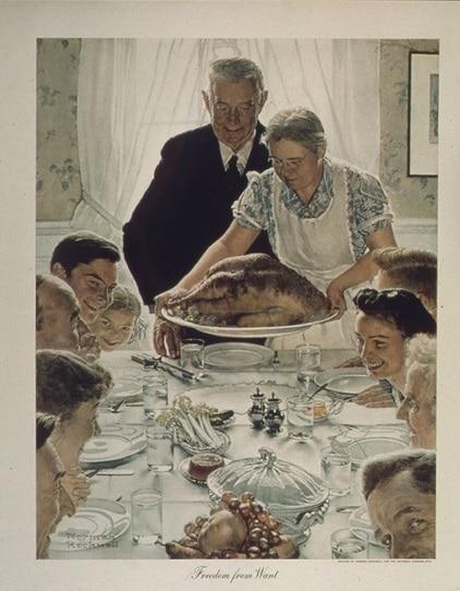 Illustration - Thanksgiving - Norman Rockwell