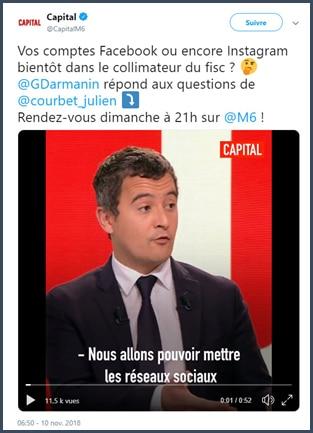 Gérard Darmanin - FISC - Facebook gilets jaunes