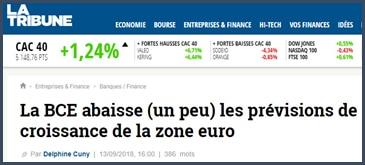 La Tribune - BCE - croissance - zone euro