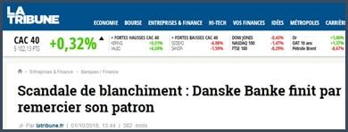 La Tribune - Danske Banke - scandale de blanchiment