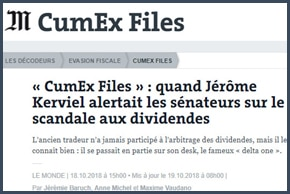 CumEx Files - Jérôme Kerviel - Le Monde