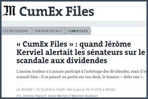 CumEx Files - Jérôme Kerviel - Le Monde
