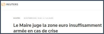Bruno LeMaire- zone euro