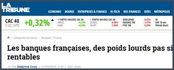 La Tribune - banques françaises
