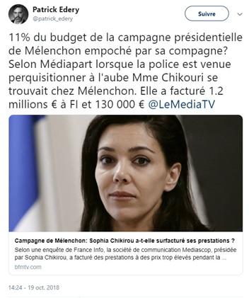 Sophia Chikirou - Mediapart - Mélenchon