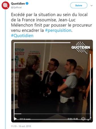 Jean-Luc Mélenchon - perquisition domicile