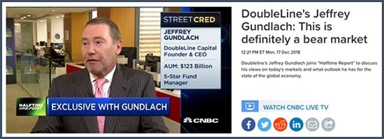 Jeffrey Gundlach - CNBC - bear market